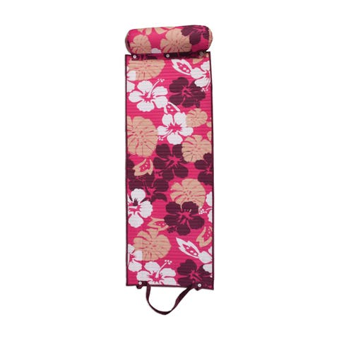 Outdoor Living Purple/ Pink Floral Rolled Beach Mat - N/A