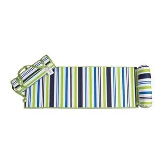 Outdoor Living Blue/ Green Stripes Rolled Beach Mat