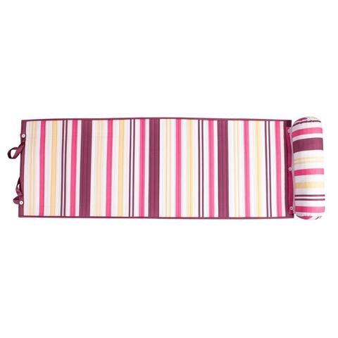 Outdoor Living Purple/ Pink Stripes Rolled Beach Mat - N/A
