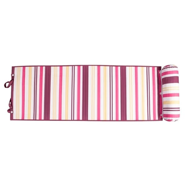 Outdoor Living Purple/ Pink Stripes Rolled Beach Mat