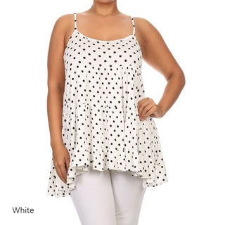 Women's Plus Size Polka Dot Tank Top