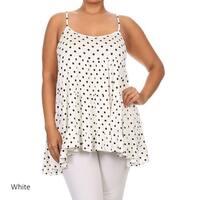 Women's Plus Size Polka Dot Tank Top