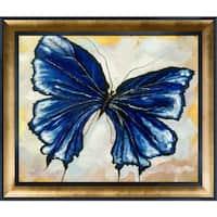 Susan Fischer 'Butterfly 3' Hand Painted Framed Canvas Art