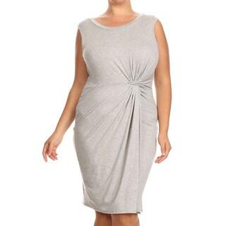 Women's Plus-size Wrapped Midi Dress