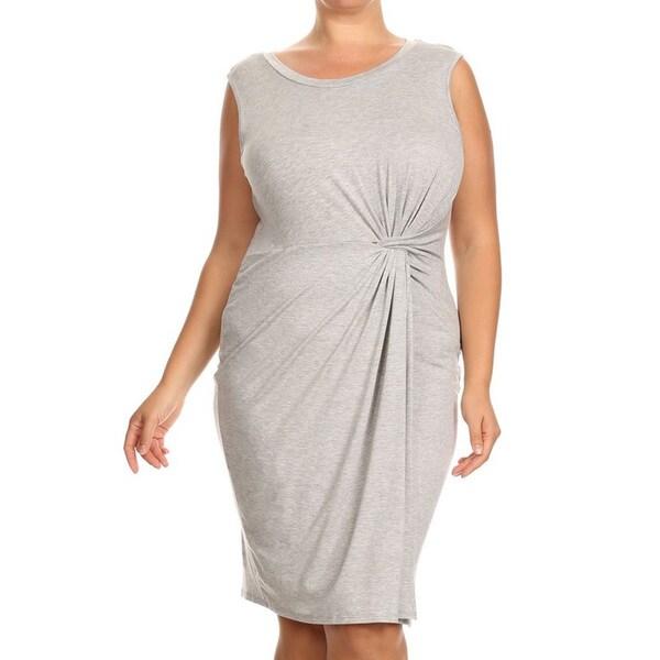 d1eda4b148a9b Shop Women's Plus-size Wrapped Midi Dress - On Sale - Free Shipping ...
