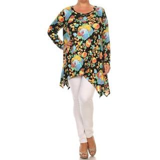 Plus-size Women's Floral Tunic