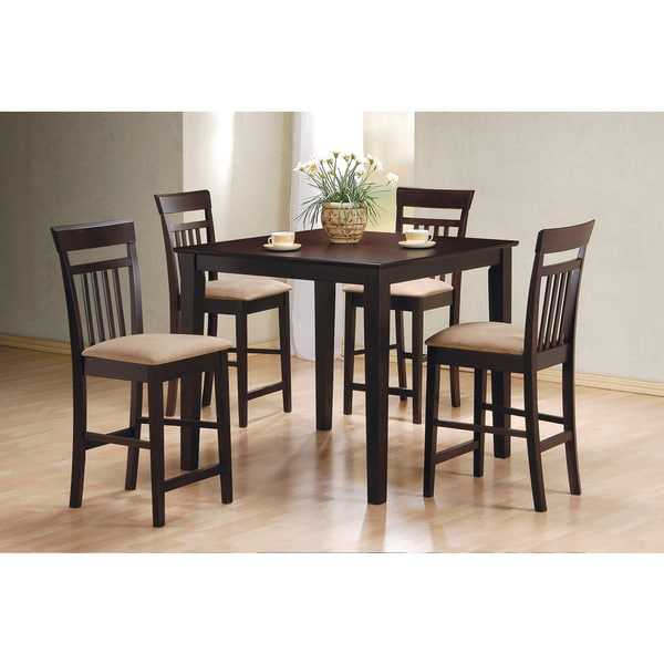 Whitley Cappuccino 5 Piece Dinette Set: Shop Coaster Company Cappuccino 5-piece Dining Set