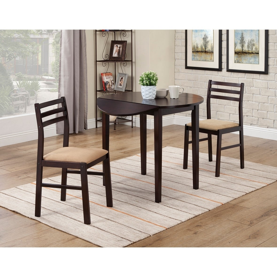 Coaster Company Cappuccino 3-piece Dining Set (BREAKFAST TABLE)