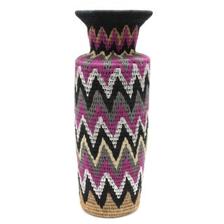 Unique Lutindzi Grass Decorative Vase (Swaziland)
