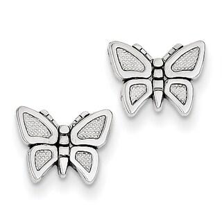 14k White Gold Butterfly Earrings by Versil