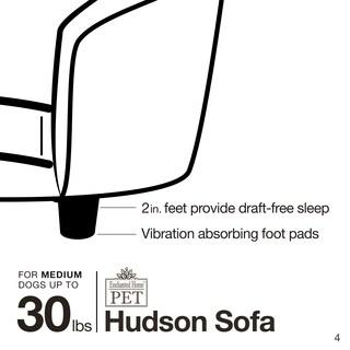 Enchanted Home Pet Hudson Diamond Grey Pet Sofa
