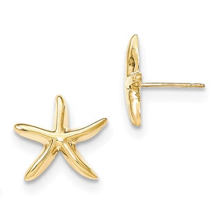 14k Polished Starfish Post Earrings by Versil