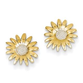 14k and Rhodium Mini Daisy Post Earrings by Versil