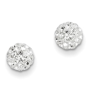 14k Crystal 6mm Post Earrings by Versil