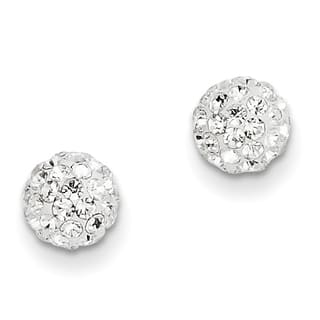 14 Karat Crystal 6mm Post Earrings by Versil|https://ak1.ostkcdn.com/images/products/12216853/P19062815.jpg?impolicy=medium