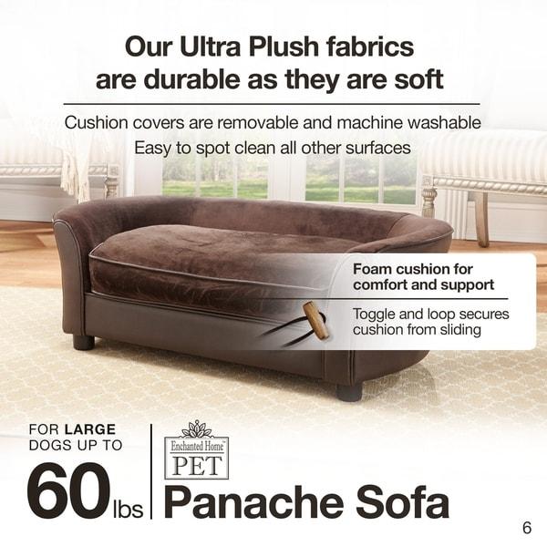 Enchanted Home Pet Ultra Plush Panache Sofa Dog Bed