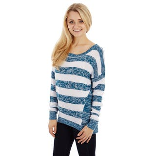 Dinamit Women's Soft Stripe Knitted Sweater|https://ak1.ostkcdn.com/images/products/12217197/P19062770.jpg?impolicy=medium
