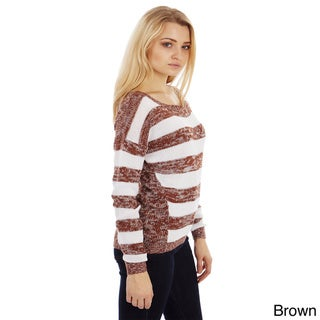 Dinamit Women's Soft Stripe Knitted Sweater