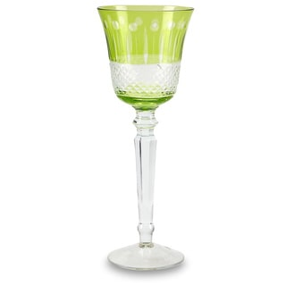 Impulse Glam Green Glass Goblet