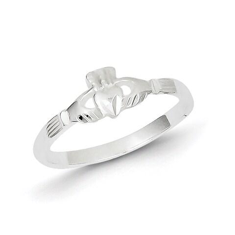 High Polish Sterling Silver Claddagh Ring by Versil