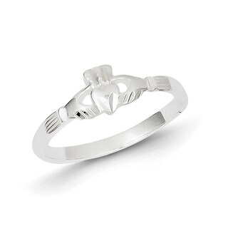 High Polish Sterling Silver Claddagh Ring by Versil