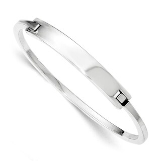 Sterling Silver ID Hinged Bangle by Versil