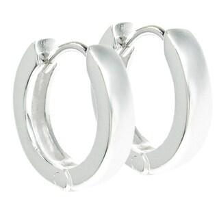 Queenberry Sterling Silver 10mm Ring Hoop Dangle Stud Ear Wire Earrings