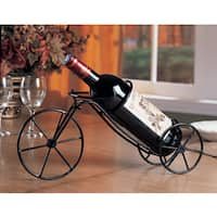 Coaster Company Black Metal Bicycle Wine Bottle Holder