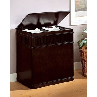 "Coaster Company Cappuccino Wood Laundry Hamper - 24"" x 15"" x 25.50"""