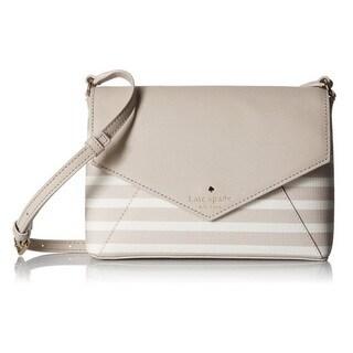 Kate Spade New York Fairmount Square Large Monday Crisp Linen/Cream Crossbody Handbag