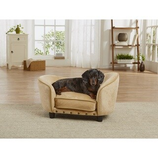 Enchanted Home Pet Ultra Plush Gold-colored Pet Sofa