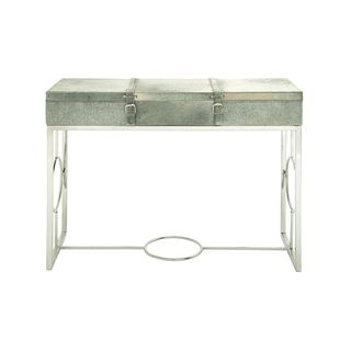 Stainless Steel Leather Hide Console (44 inches wide x 34 inches high)