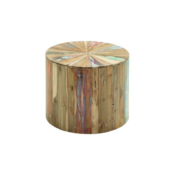 Merveilleux Reclaimed Wood Accent Table (22 Inches Wide X 18 Inches High)