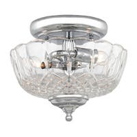 Crystorama Traditional 2-light Polished Chrome Semi-Flush Mount