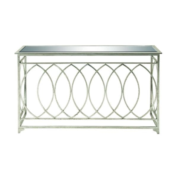 Metal mirror silver console table 54 inches wide x 32 for 10 inch wide console table
