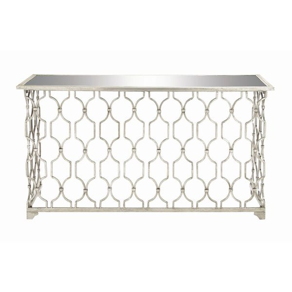 Metal mirror console table 55 inches wide x 32 inches for 10 inch wide console table
