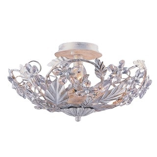 Crystorama Paris Market Collection 6-light Antique White Semi-Flush Mount