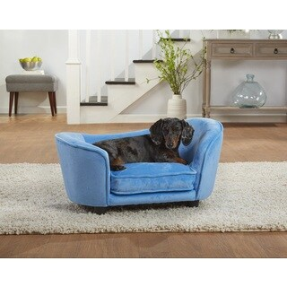 Enchanted Home Pet Ultra Plush Light Blue Snuggle Pet Sofa