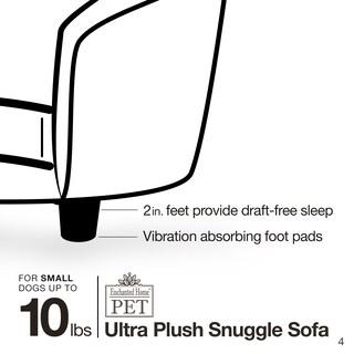 Enchanted Home Pet Ultra Plush Pink Snuggle Pet Sofa with Faux Fur Cushion
