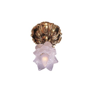 Crystorama Cecile Collection 1-light Olde Brass Semi-Flush Mount