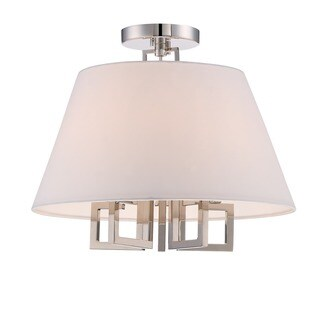 Crystorama Libby Langdon Westwood Collection 5-light Polished Nickel Semi-Flush Mount