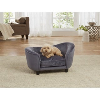 Enchanted Home Pet Grey Ultra-plush Snuggle Pet Sofa