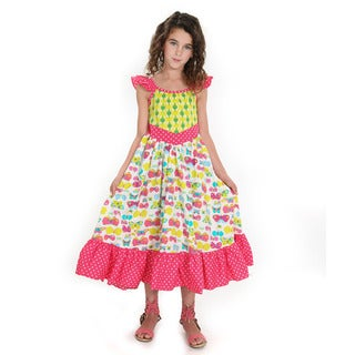 Bella Butterfly Multicolor Woven Cotton Dress
