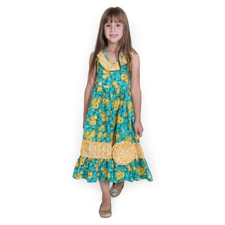 Girls' English Rose Samantha Maxi Woven Dress