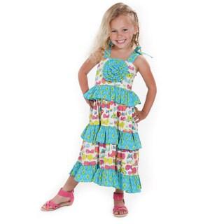 Butterfly Boho Woven Maxi Dress