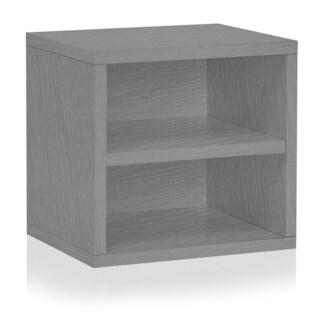 Weston Eco Stackable Storage Cube Unit with Shelf by Way Basics LIFETIME GUARANTEE