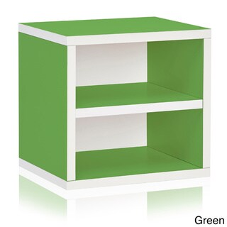 Weston Eco Friendly Stackable Storage Cube Unit with Shelf LIFETIME WARRANTY (made from sustainable non-toxic zBoard paperboard)