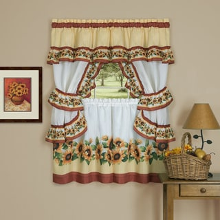 Achim Black-eyed Susan Cottage-style Window Curtain Set