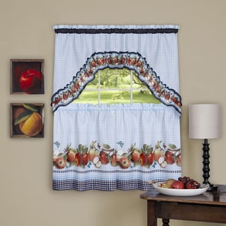 Golden Delicious Window Curtain Printed Tier & Swag Set
