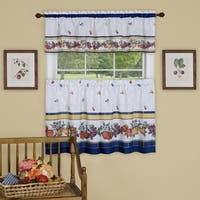 Achim Fruity Tiles Window Curtain Tier and Valance Set